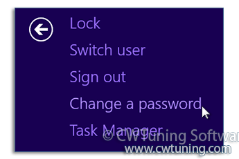 WinTuning: Tweak and Optimize Windows 7, 10, 8 - Remove «Change a password» item
