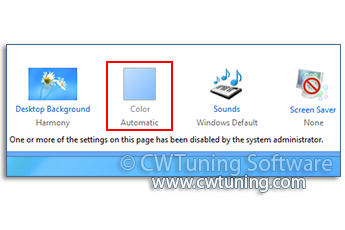 Disable «Windows Color» button - WinTuning Utilities: Optimize, boost, maintain and recovery Windows 7, 10, 8 - All-in-One Utility