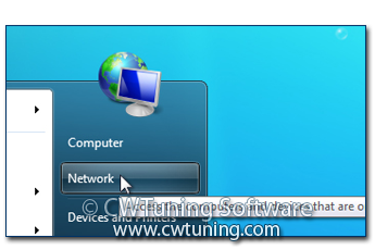 Remove «Network» item - This tweak fits for Windows 7