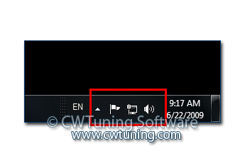 Hide the notification area - This tweak fits for Windows 7