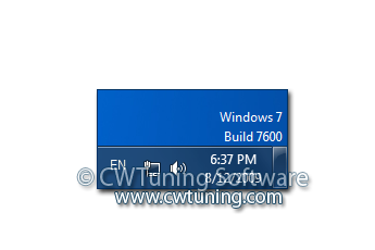 Display the Windows version in the right bottom corner - This tweak fits for Windows 7