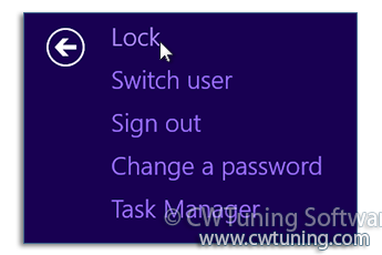 Remove «Lock this Computer» item - This tweak fits for Windows 8